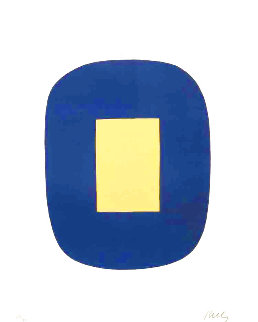Dark Blue With Yellow 1965 Limited Edition Print - Ellsworth Kelly