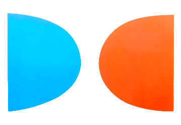 Twenty Seven Color Suite: Blue And Orange (Bleu Et Orange)  1964 Limited Edition Print - Ellsworth Kelly
