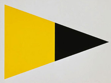 Black Yellow 1972 Limited Edition Print - Ellsworth Kelly