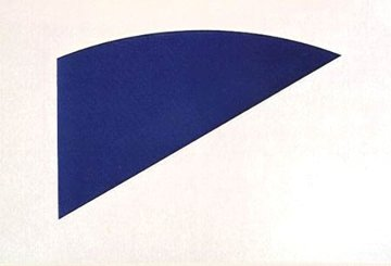 Untitled Blue Curve, Eight by Eight  Limited Edition Print - Ellsworth Kelly