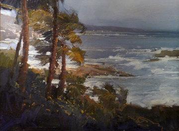 Windswept Laguna 1999 35x45 Original Painting - Ken Auster