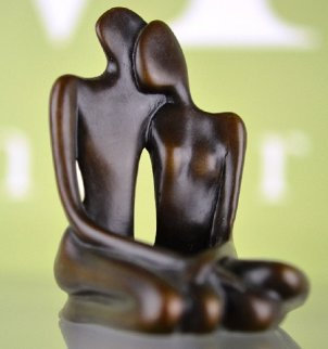 Lovers Maquette   Sculpture  Bronze 1997 8 in Sculpture by John  Kennedy