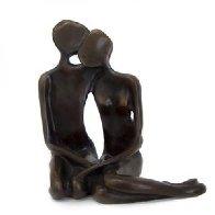 Lovers Maquette    Bronze Sculpture AP 1997 8 in   Sculpture by John  Kennedy - 0