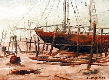 Shipbuilding 1966 16x20 Original Painting - Scott Kennedy