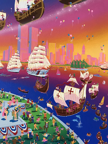 Christopher Columbus 500 Anniversary  1992 Limited Edition Print by Melanie Taylor Kent