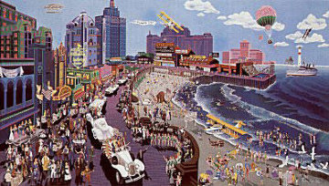 Boardwalk of Atlantic City 1986 Limited Edition Print - Melanie Taylor Kent