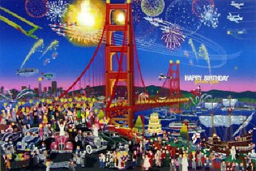 Golden Gate Bridge AP  1987   Limited Edition Print by Melanie Taylor Kent
