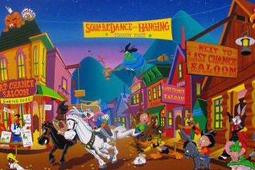 Tune Town 1995 Limited Edition Print by Melanie Taylor Kent