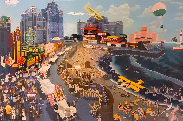 Boardwalk Atlantic City 1986 Limited Edition Print - Melanie Taylor Kent