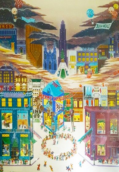 December on 5th Ave 1983 Limited Edition Print by Melanie Taylor Kent