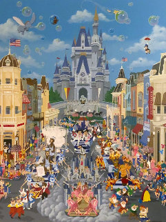 Walt Disney World 15 Year Anniversary 1987 Limited Edition Print by Melanie Taylor Kent