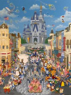 Walt Disney World 15 Year Anniversary 1987 Limited Edition Print - Melanie Taylor Kent