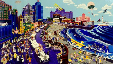 Boardwalk of Atlantic City 1986 Limited Edition Print - Melanie Taylor Kent