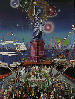 Statue of Liberty Centennial Artist Proof Remarque 1986 Limited Edition Print by Melanie Taylor Kent