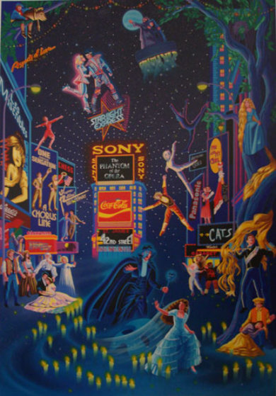 Broadway 1990 Limited Edition Print by Melanie Taylor Kent