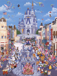 Walt Disney World 15th Anniversary AP 1987 Limited Edition Print - Melanie Taylor Kent