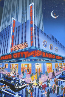 Radio City Music Hall AP Remarque Limited Edition Print - Melanie Taylor Kent