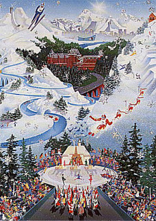 Let the Winter Games Begin AP (1988 Winter Olympics)  Limited Edition Print - Melanie Taylor Kent