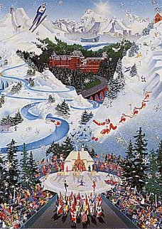 Let the Winter Games Begin 1988 Limited Edition Print - Melanie Taylor Kent
