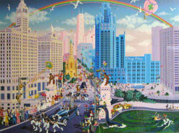 Chicago Michigan Avenue 1988 Limited Edition Print by Melanie Taylor Kent