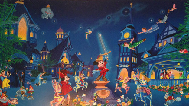 Fantasyland 1990 Limited Edition Print by Melanie Taylor Kent