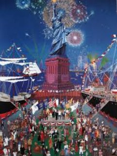 Stature of Liberty Remarque 1996 Limited Edition Print by Melanie Taylor Kent