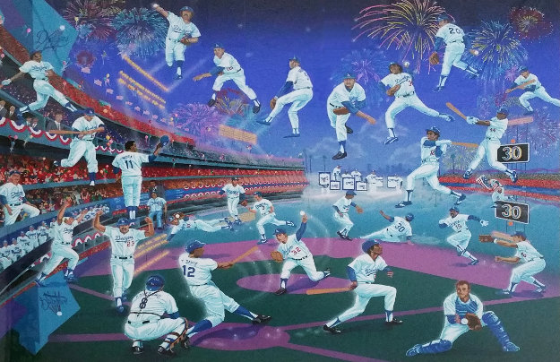 Dodger Stadium  30 Years of Memories 1993 with Remarque Limited Edition Print by Melanie Taylor Kent