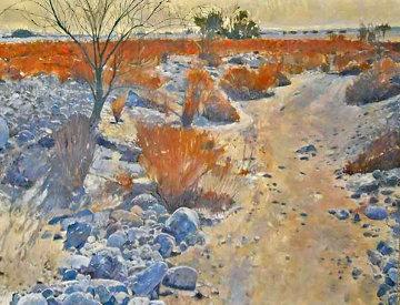 Sheep Canyon (California) 1980 60x48 Desert Mural Original Painting - Mark Kerckhoff