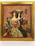 Beautiful Duo 29x29 Original Painting by Alex Khomsky - 1