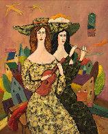 Beautiful Duo 29x29 Original Painting by Alex Khomsky - 0