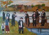 Jewish Holidays 2012 22x28 Original Painting by Alex Khomsky - 1