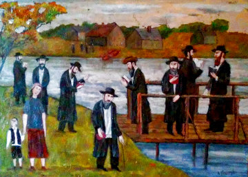 Jewish Holidays 2012 22x28 Original Painting - Alex Khomsky