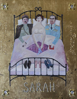 Sarah 2012 28x22 Original Painting - Alex Khomsky