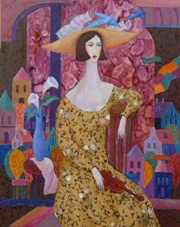 Violinist 2009 30x24 Original Painting - Alex Khomsky