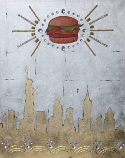 U.F.O. Over New York 2012 30x24 Original Painting by Alex Khomsky