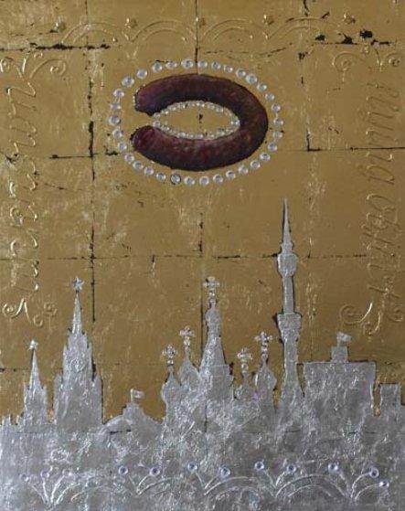 U.F.O. Over Moscow II 2014 Original Painting by Alex Khomsky
