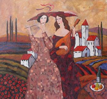 Evening Serenade 2012 25x27 Original Painting by Alex Khomsky