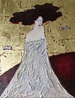 Lady in Gold 24x20 Original Painting by Alex Khomsky - 0