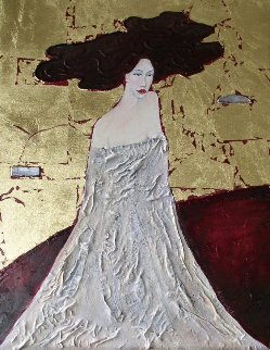 Lady in Gold 24x20 Original Painting - Alex Khomsky