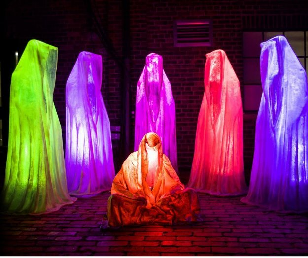 Light Guardians of Time - 6 Polyester Sculptures 2017 67 in Sculpture by Manfred Kielnhofer