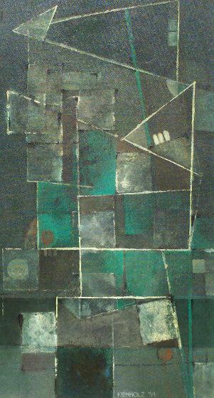 One Day Wonder   1954 76x122 Original Painting by Edward Kienholz
