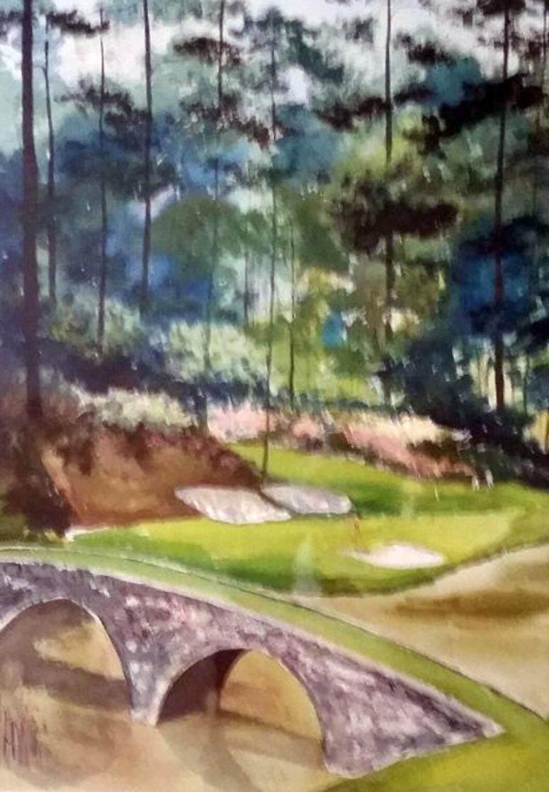 Augusta #12 Watercolor 31x39 Georgia Watercolor by Mark King