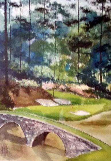 Augusta #12 Watercolor 31x39 Georgia Watercolor by Mark King