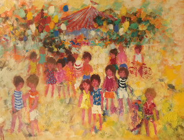 Carnival 1974 36x48 (Early) Original Painting - Mark King