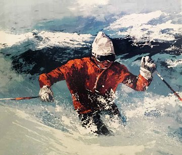 Powder Skier AP 1982 Limited Edition Print - Mark King