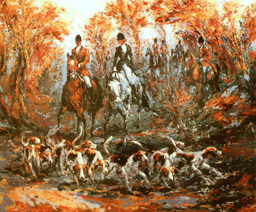 Autumn Hunt AP 1990 Limited Edition Print by Mark King