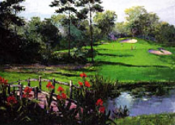Golf Landscape 1990 Limited Edition Print - Mark King