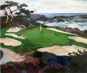 Cypress Point # 15 1988 32x40 Huge  Limited Edition Print - Mark King