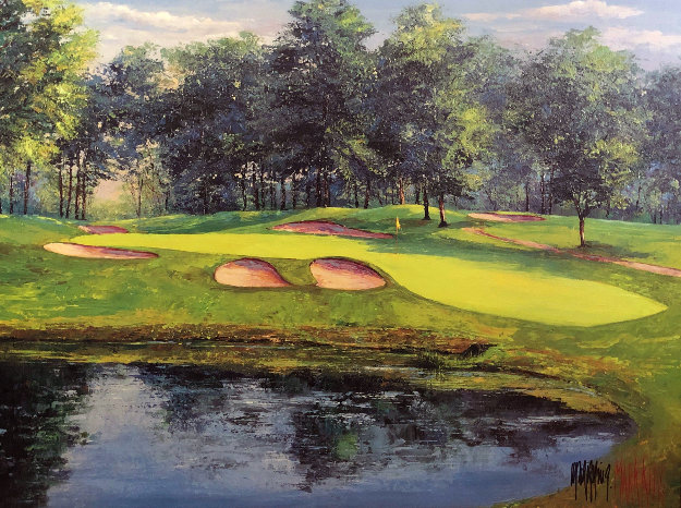 Mastering the 17th Hole Limited Edition Print by Mark King
