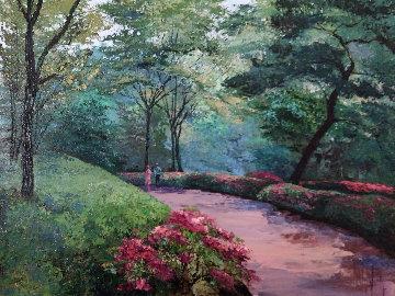 Spring Promenade 1994 42x54 Huge Original Painting - Mark King